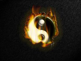 Yin-Yang-a-flame by MultipleFX