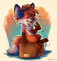 Relaxing music - drawn by Rileyy by Hukley