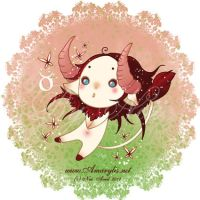 Astrological sign Taurus by Nailyce