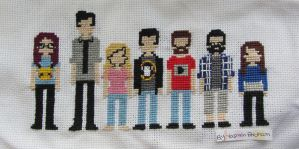 Sourcefed Cross Stitch Line-up by yes-its-yaz