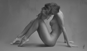 Woman Study by JoshSummana