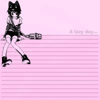 Neko Girl Stationary by rainebow