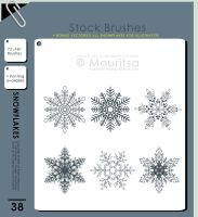 Brush Pack - Snowflakes by MouritsaDA-Stock