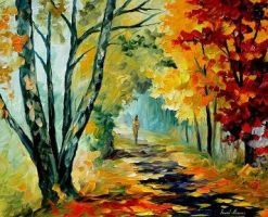 Two birches oil painting on canvas by L.Afremov by Leonidafremov
