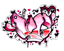 KG- TAg++ Pink+Hearts by McRhino