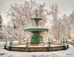 November Snow fountain 2 by Browncoat359