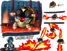 Mighty no 9 contest entry - enemy oil refinery sta by theEyZmaster