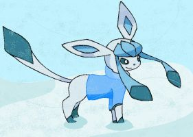 My BEST Glaceon EVA by SnugglePuffs