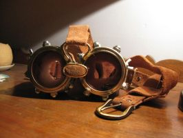 Steam Punk'd Goggles by willielowman