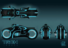 TRON - Light cycle finished by Paul-Muad-Dib