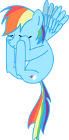 Rainbow Dash Quadruple Facehoof vector by bobmortar