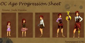Jade R. .:Age Progression:. by Tennessee11741