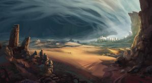 Desert Ruins by Domen-Art