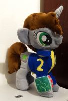 Littlepip Plushie :Commission: by AppleDew