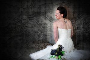 Roller Derby Bride by rlitwinphoto