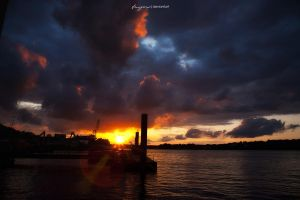 Elbe Sunset by Feryzal
