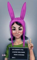 Louise Mugshot by TwoStripTechnicolor