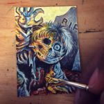 GPK Dead TED Sketch Card by Layron DeJarnette by DeJarnette