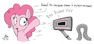 MLP FIM - Pinkie Pie VS Vacuum Cleaner by Joakaha
