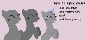 MLP Base: 3 Happy pons by PhoenixBases