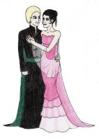 DM and PP at Yule Ball Fluff by Rotae