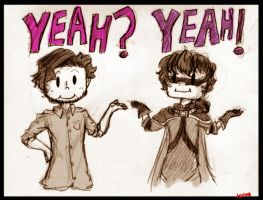 Adam and Sky - Yeah? Yeah! by Ninja-Neko-Aru