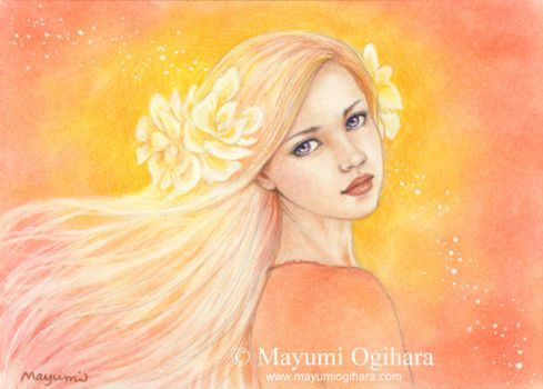 Sunset Blossoms - sketch by MayumiOgihara