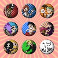 One Piece Button Designs by JimmyRay