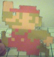 8-bit mario papercraft by ganon-destroyer