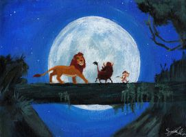 The Lion King - Painting by zzoffer