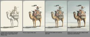 Pirate Camel- step by step by hyxhoratio