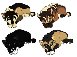 Puppy Adopts :Closed: by MonsoonWolf
