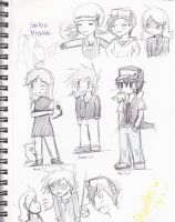 pokemon trainer sketches by Yami-The-Orca
