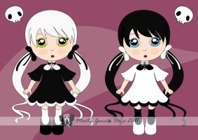 Gothic Twins: Lilith and Jezabel by martagd