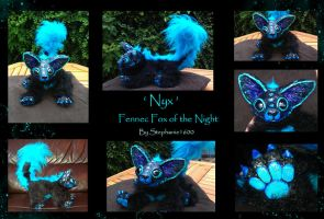 'Nyx' The Fennec Fox Of The Night, Art Doll by stephanie1600