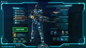 Planetside 2 Customising Soldier Screen by Luckymarine577