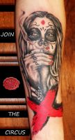 dia de los muertos tattoo ..X-rated version by loop1974