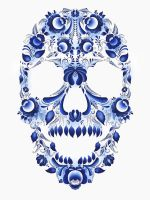 the traditional pattern. skull 2. by Max-13-Tulmes