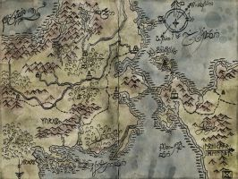 Dungeons and Dragons map by AnnaLuminara