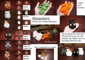 Crochet Hamsters woot by FeatheredDragon