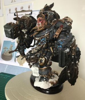 Scratch built 40K Space Wolf Terminator by JSRegan