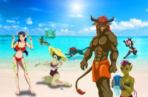 Horde Beach Party by TwoTigerMoon