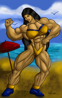 Neijia at the beach by hulkdaddyg