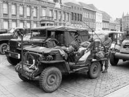 Willy's Jeep modern Black and White by Grabacr96