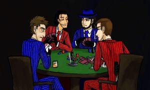 Spies Playing Poker colored by kytri
