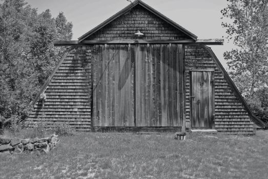 Old Barn in Red Beach, Maine by Man-most-ordinary