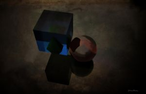 Cube and sphere by passionofagoddess