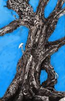 Big Tree With Blue by DeferoMortis