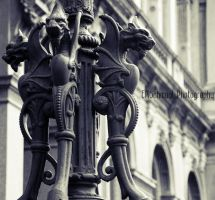 Dragon Lamp Post by psychochick10158