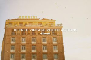 10 Amazing Free Vintage Photography Actions by TheUltraLinx